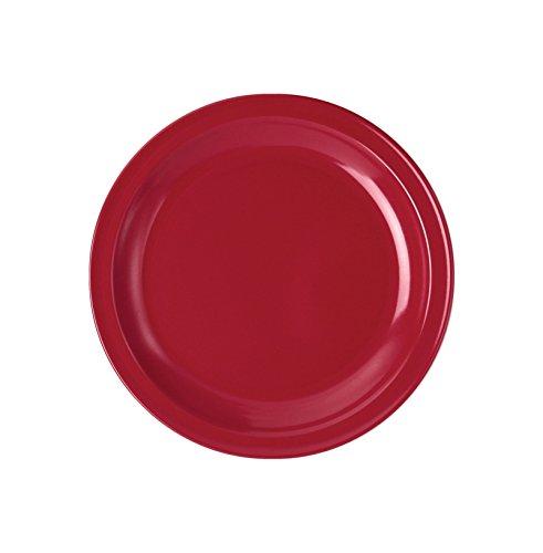 WACA® 1928-730 Speisenteller Kunststoffteller ∅235 mm rot