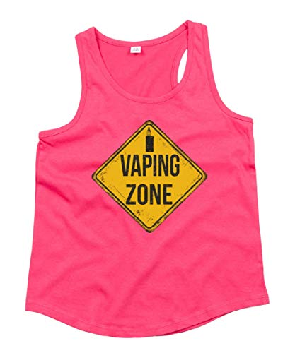 Druckerlebnis24 Tank Top - Vaping Zone - Cigarrillo eléctrico unisex para niños...