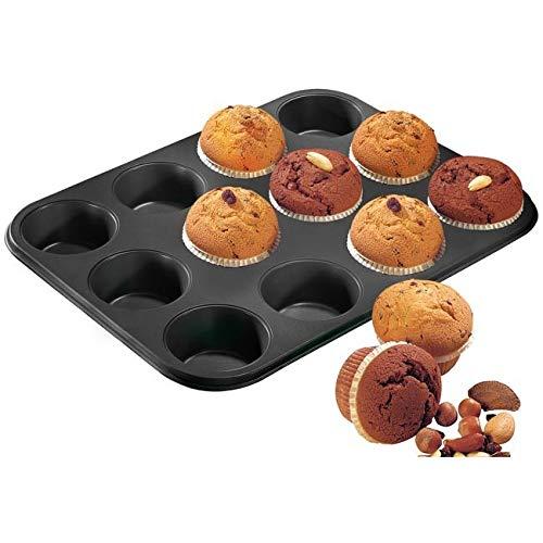 Teflon Lot de 12 plaques à muffins