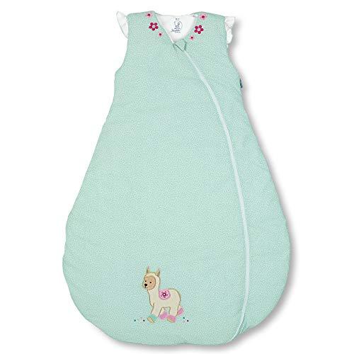 Sterntaler Schlafsack für Kleinkinder, Ganzjährig, Funktionsschlafsack Kuschelzoo, Reißverschluss, Größe: 110, Mintgrün