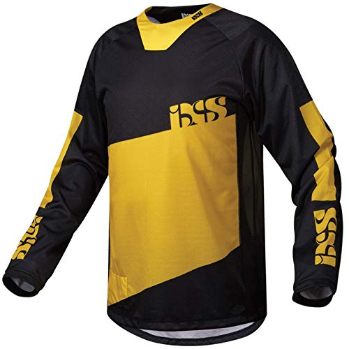 IXS Pivot 6.2 MTB DH Jersey - gelb schwarz