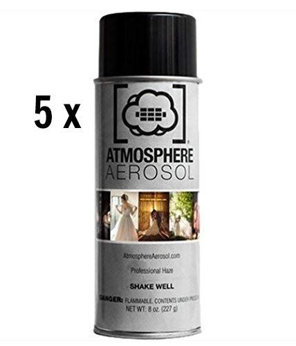 Atmosphere Aerosol 5X 8oz Haze/Fog Spray for Photographers and Filmmakers with Microfiber Cloth