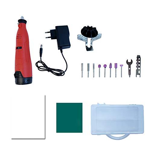 Mini Amoladora Eléctrica Multiherramienta Mini Taladro Herramienta Rotativa Multifunción con Flexible Accesorios