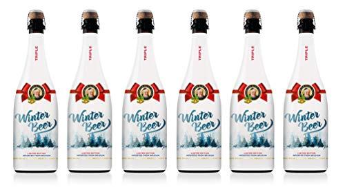 Abbaye D'Aulne - Cerveza de Abadia Belga - Edición Especial Winter, Pack de 6 Botellas de 75 cl