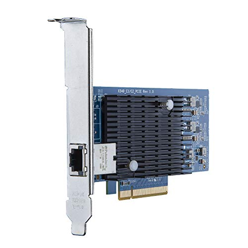 10Gtek Intel X540 Chip 10G Ethernet Konvergierten Netzwerkadapter (NIC), Single Copper RJ45 Port, PCI Express 2.1 X8, Amountzu Intel X540-T1
