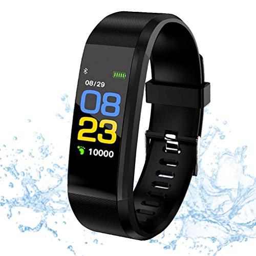 Fitness Trackers, trackers di attività, Smart Fitness, braccialetto Heart Rate Meter, Activity Trackers, pedometro di cammino, Smart Watch impermeabile IP67, per uomo e bambino, anziani per Android
