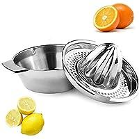 YAVO-EU Exprimidor Manual de limón Acero Inoxidable Prensa de cítricos Naranja Squeezer Lemon Uso Doméstico