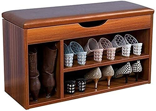 DFVV Estante de Zapatos Zapatero Europea de acumuladores Tipo Bench Hall de Entrada, Zapatero en 2 Niveles Planta Alta Bandeja de Almacenamiento