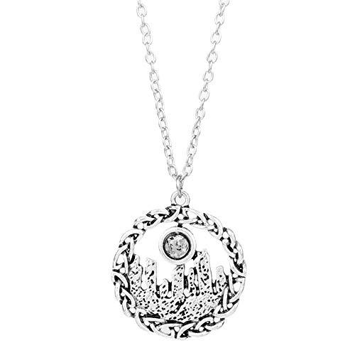 Jewelryamintra Outlander Necklace Vintage Celtics Knot Triskele Trinity Scottish Irish Jewelry