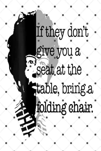 Womens Folding Chair Quote Shirley Chisholm Meme Icon - Gratitude Journal