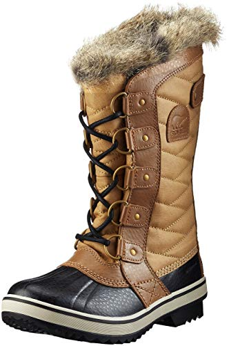 Sorel - Women's Tofino II Waterproof Insulated Winter Boot with Faux Fur Cuff, Curry, Fawn, 12 M US