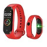 """El producto que estas adquiriendo es: Smartband Reloj Bluetooth Muestra la hora de tu celular, controla la música desde tu banda, visualiza las llamadas entrantes, monitorea ritmo cardiaco. Modelo: M4, Tamaño de la pantalla: 1"""", Resolución de la pant..."""