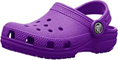 CROCS FOR EVERYONE: Just like the adult Classic Crocs, the kids' version offers the same great shoe for youngsters; Easy on and easy off makes these the pair of Crocs kids need LIGHTWEIGHT & FUN: These kids' Crocs are incredibly light, fun to wear an...