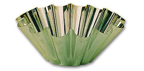 Moule à brioche 14 côtes professionnel en fer blanc à 140 mm de diamétre