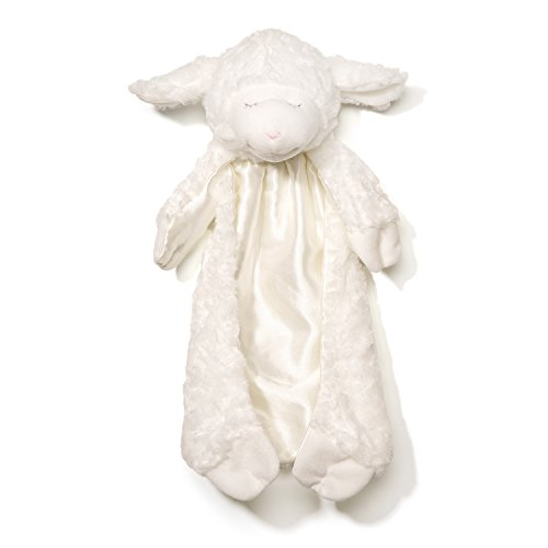 Product Image of the Baby GUND Winky Lamb Huggybuddy Stuffed Animal Plush Blanket, White, 15 in