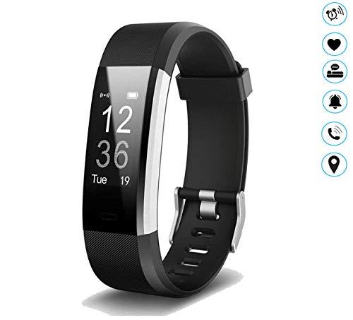 MuscleLocker Fitness Tracker, Monitor de actividad cardíaca, impermeable, pulsera inteligente con contador de pasos… 1