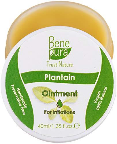 Unguento naturale con piantaggine da 40 ml, estratto naturale di olio freddo al 100% - azione altamente antifungosa - puro concentrato della natura - fatto a mano nell'UE