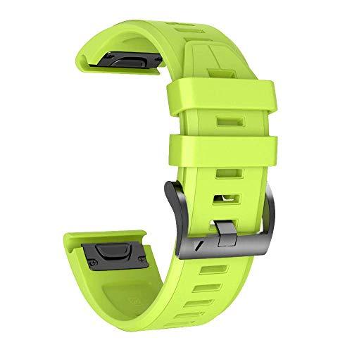 NotoCity Correa para Garmin Fenix 3/3 HR/Fenix 5X/5X Plus/Fenix 6X/6X Pro, Correa de Silicona 26mm, Banda de Reloj Deportivo Instalación/desmontaje rápido sin Herramientas