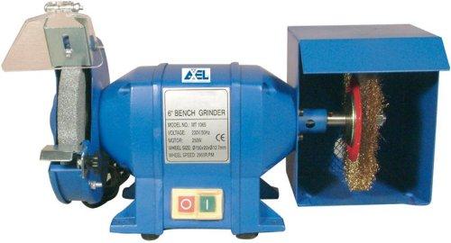 Amoladora de banco doble de 150 mm combinada con eje cepillo 250 W