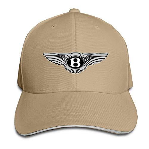 eeer Customized Bentley Automobile Logo Funny 100% Organic Cotton Cricket Cap for Girls Black Sombreros y Gorras