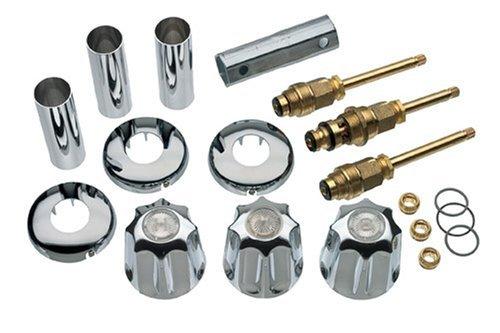 DANCO Bathtub and Shower 3-Handle Remodel/Rebuild Trim Kit for Gerber Faucets | Knob Handle | 11B-1H, 11B-1C, 11B-4D | Chrome (39617)
