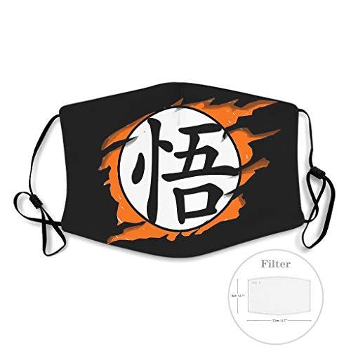 NA Goku Anime - Máscara antipolvo para la boca (15 filtros), color blanco