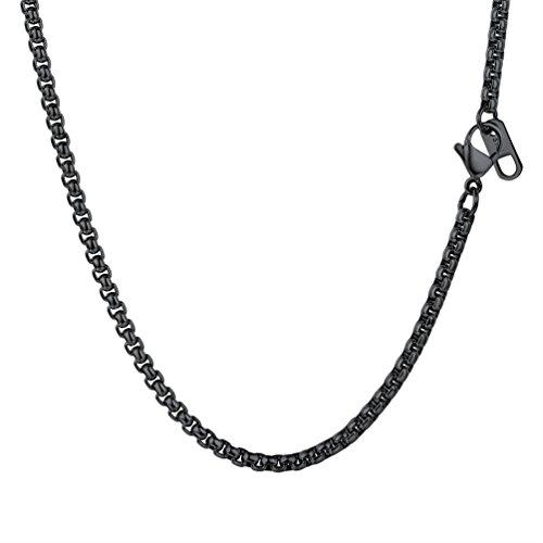 PROSTEEL Cadena Hiphop Collar para Hombre del Estilo Hip Hop Rock Collar de Acero Inoxidable