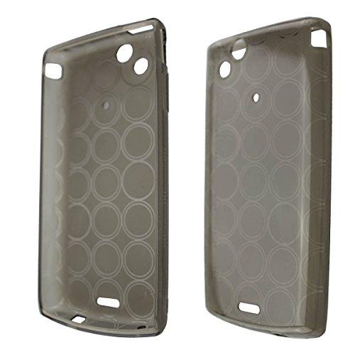 caseroxx TPU-Hülle für Sony Ericsson Xperia Arc/Arc S, Tasche (TPU-Hülle in schwarz-transparent)