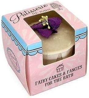 Rose And Co Patisserie De Bain Fairy Cake Moisturising Bath Melt VIOLET 45g by Rose
