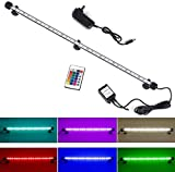>>> Colorful LED Lights --- Use of 33 RGB LED lights with 16 color 4 modes and controled by wireless remote, can make your fish tank a colorful landscape. Can be widely used in fish tanks, cisterns, rockeries, pet cages and others. Bright LED Bar can...