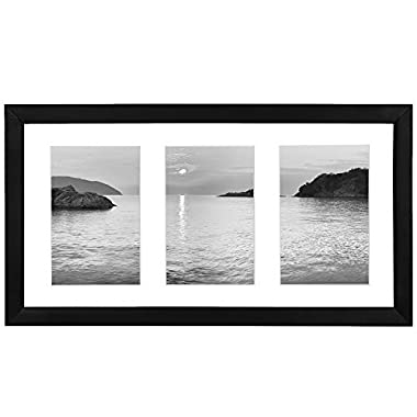 Collage Picture Frame 4x6 - Displays Three 4x6 Inch Portrait Pictures - Photo Collage Frame Perfect for Family Photos