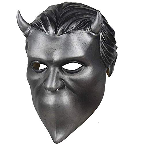WLXW Halloween Cosplay Props, Anonymous Ghoul Latex Mask Ghost Heavy Metal Doom Hard Rock Band Casco, Edición de Coleccionista