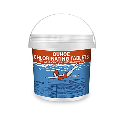 Chlorine Pool Tablets for Swimming Pool,300 Pcs Chlorine Tabs for Pool Party,Prevent Sunlight for Longer Time, for Above Ground Pools Improve Water Pool Quality