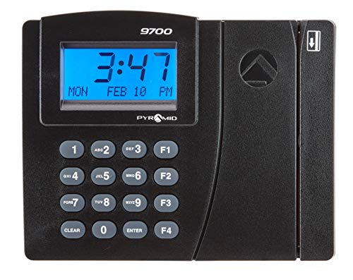 Pyramid Time Systems, Time Trax Elite PSDLAUBKK Automated Swipe Card Time Clock System with Downloadable Software, Expandable up to 500 Employees, Made in USA, Black