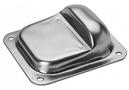 Tope de puerta para suelo, 100 x 80 mm, para puertas giratorias y pesadas, tope de suelo de acero galvanizado