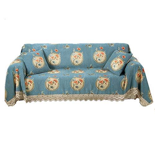 HAODEE Fundas de Sofa Resistente al Agua Cubresofa Sillón de la Cubierta Sofás Cubre Sofá Cubierta de Asiento Cubierta de sofá elástico Elástico sofá Cubre 180X240,Deep Blue