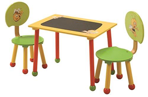 roba Sitzgruppe 'Biene Maja', 1 Tisch, 2 Stühle für Kinder