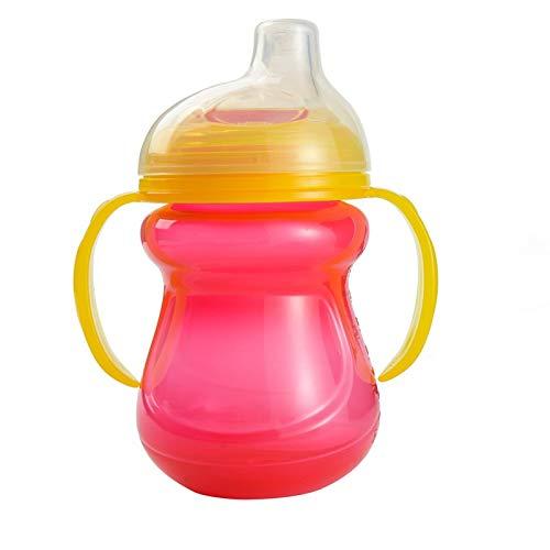 ZOZO Infant Silikon Flasche Wasserflasche Milchflasche Babyflasche Babytraining mit Griff Tasse Wasser Tasse,A3-200ML