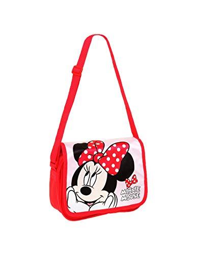 Minnie Sac bandoulière enfant fille Disney Rose/rouge 24x18cm - Rose/rouge, Taille unique