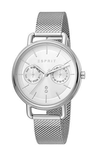 Esprit ES1L179M0065 Ellen Multi Silver Mesh Uhr Damen-Uhr Edelstahl Datum Silber