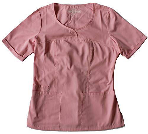 Smart Uniform V-Neck Modern Fit Scrub046 1121 (L, Rosa [Pixel Pink] 1)