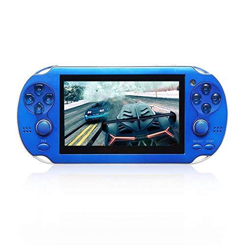 SU Juego de Consola de Juegos portátil para niños, de Adultos, PSP HD, Pantalla Grande, NES/GBA,Blue