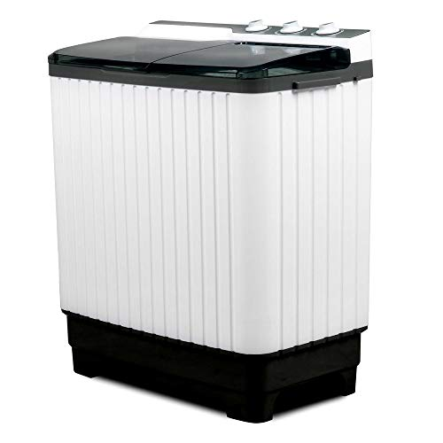 Portable Washing Machine With Twin Tub Gray Color Mini Compact Washer Spin Dryer Cycle With Built-In Pump - Skroutz Deals