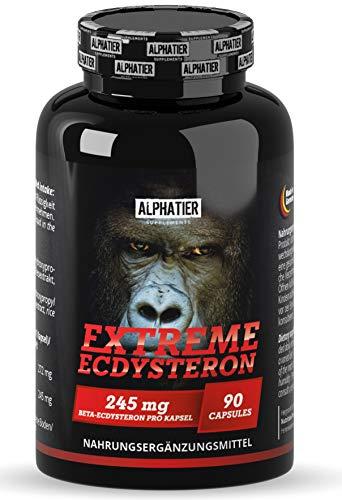 Ecdysterone Kapseln hochdosiert - 245mg beta-Ecdysteron pro Kapsel - 95% Wirkstoff - Cyanotis Arachnoideae Extrakt (besser als Spinat) - 90 Capsules vegan - ALPHATIER SUPPLEMENTS