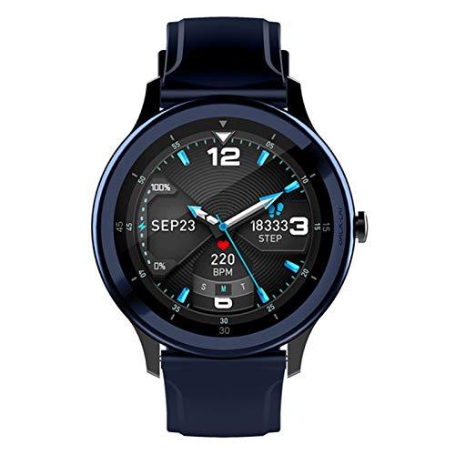 LTLJX Pulsera de Actividad Inteligente, Impermeable Reloj Inteligente con Pulsómetro Podómetro Calorias Monitor de Sueño, Pulsera Actividad Smartwatch para Hombre Mujer Niños,Azul