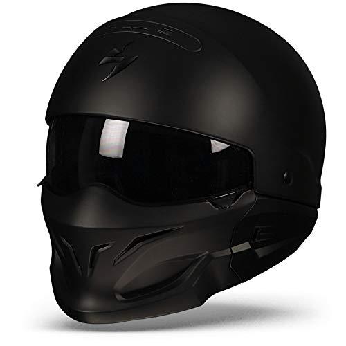 Scorpion Casco Moto exo-combat, Matt black, l