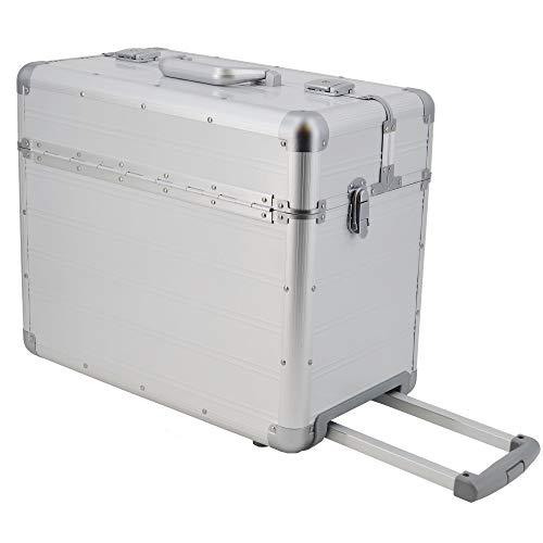 XXL Pilotenkoffer mit Rollen mit Trolley von SONOVO aus Aluminium in Silber 45165 | Alukoffer, Aktenkoffer, Businesskoffer | Für den täglichen Geschäftseinsatz, für Kundentermine und Messebesuche