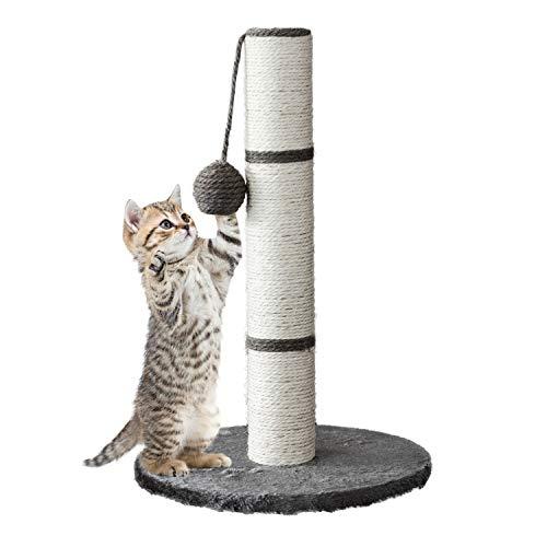 COSMOLINO Kratzstamm - Kratzbaum Katzenbaum - Kratzbaum - para gatos - Katzenkratzbaum - gatos - Kratzbaum gato - Kratzmöbel - gatos - Kratzbaum (gris)
