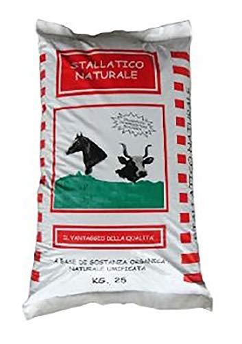 VIALCA STALLATICO Naturale in Polvere kg.25 Fertilizzante Organico Consentito in Agricoltura Biologica