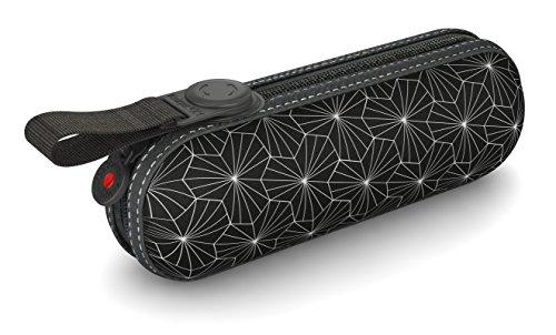 Knirps Taschenschirm X1 Design – Kleinster Regenschirm von Knirps – Leicht und kompakt –Sturmfest – Black